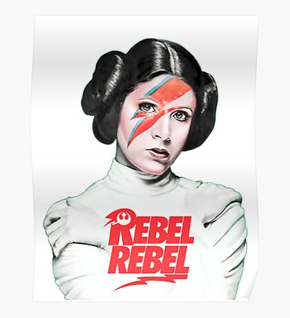 Princess Leia - Carrie Fisher - Star Wars Poster