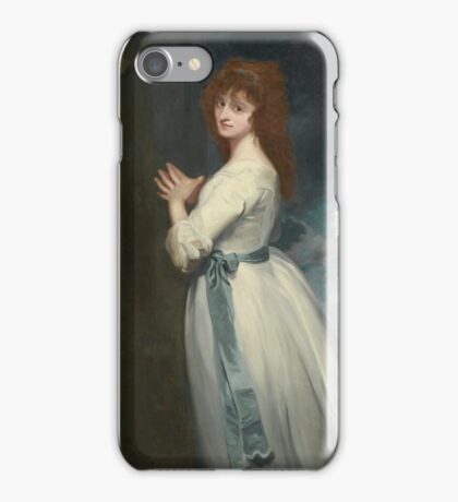 George Romney PORTRAIT OF MRS. JORDAN AS PEGGY IN THE COUNTRY GIRL iPhone Case/Skin