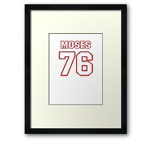 NFL Player Morgan Moses seventysix 76 Framed Print