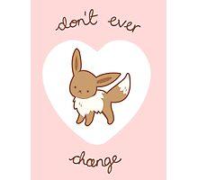 Eevee Valentine V2 Photographic Print