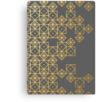 Geometric Gold Canvas Print