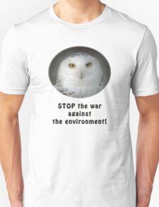 Snowy Owl Environmentalist T-Shirt