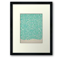 Abstract Turquoise Pattern Framed Print