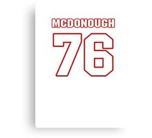 NFL Player Jake McDonough seventysix 76 Canvas Print