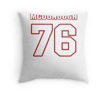NFL Player Jake McDonough seventysix 76 Throw Pillow