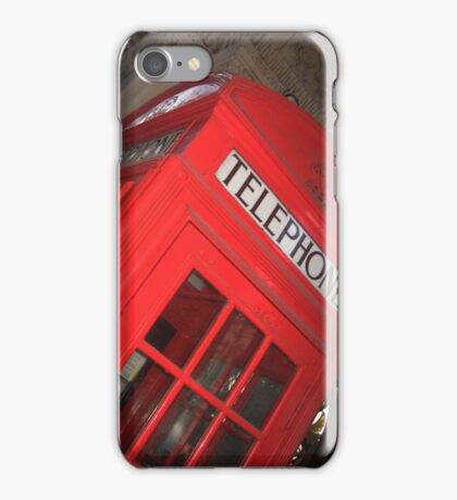 London, telephone booth iPhone Case/Skin