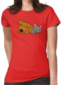 Dog and Cat Womens Fitted T-Shirt