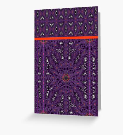 Purple and Orange It Greeting Card