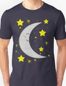 Sleeping Paper Moon + Stars Unisex T-Shirt