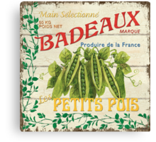 French Veggie Label 1 Canvas Print