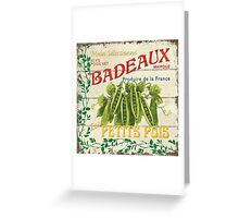 French Veggie Label 1 Greeting Card