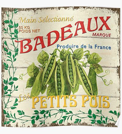 French Veggie Label 1 Poster