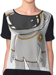 cartoon Spaceman looks a cute Chiffon Top