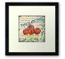 French Veggie Labels 3 Framed Print