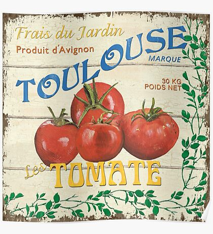 French Veggie Labels 3 Poster
