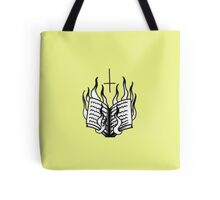Burning Bible Tote Bag