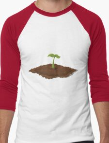 Glitch Harvestable resources patch seedling Men's Baseball ¾ T-Shirt