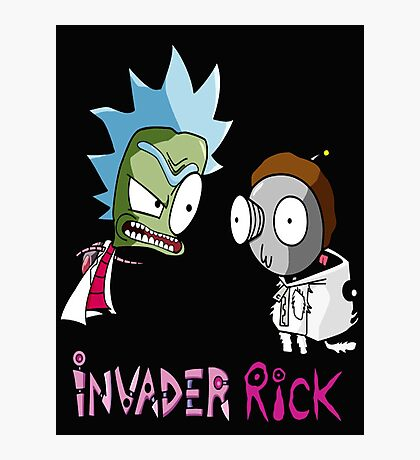 Invader Rick Photographic Print
