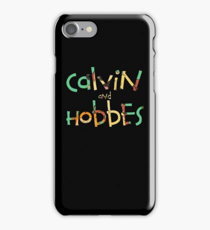 Calvin and hobbes font iPhone Case/Skin