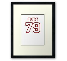 NFL Player Maurice Hurt seventynine 79 Framed Print
