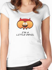 I'M A LITTLE DEVIL Women's Fitted Scoop T-Shirt