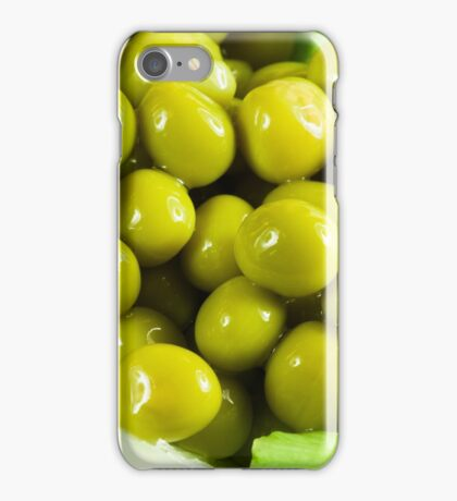 Macro view on a salad of green vegetables iPhone Case/Skin