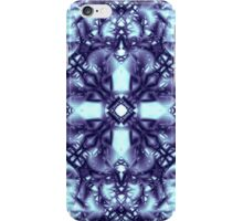 """Spirit of India: Dark Frozen Fleur"" in blue-violet and cyan iPhone Case/Skin"