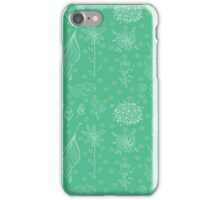 Floral Pattern Green iPhone Case/Skin