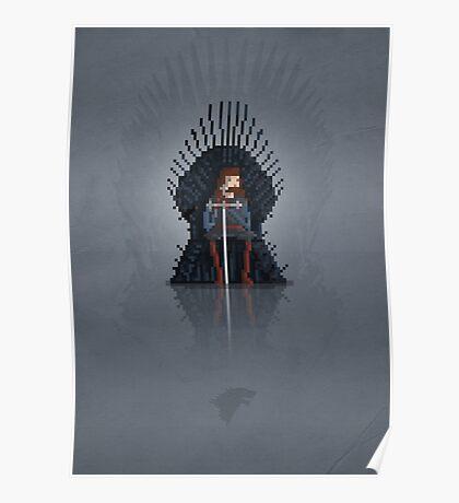 8-Bit TV Iron Throne Poster