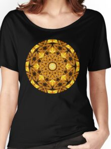 Liqued Gold Mandala Women's Relaxed Fit T-Shirt