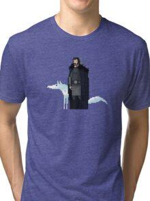 8-Bit TV Jon Snow Tri-blend T-Shirt