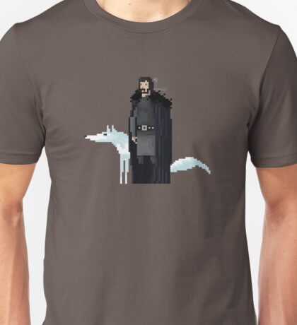 8-Bit TV Jon Snow Unisex T-Shirt