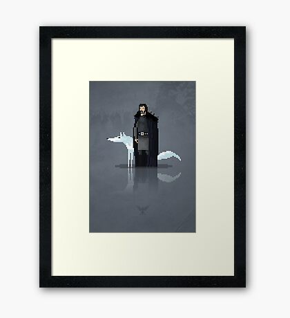 8-Bit TV Jon Snow Framed Print