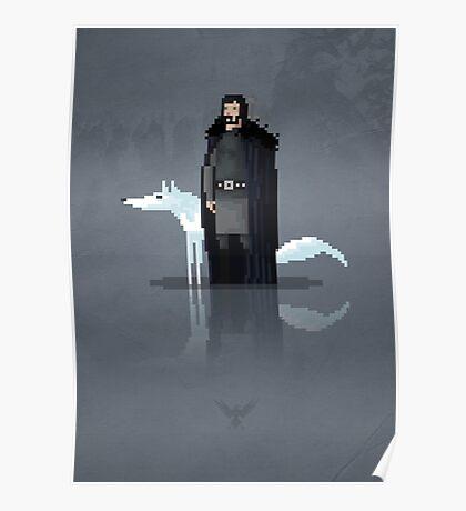 8-Bit TV Jon Snow Poster