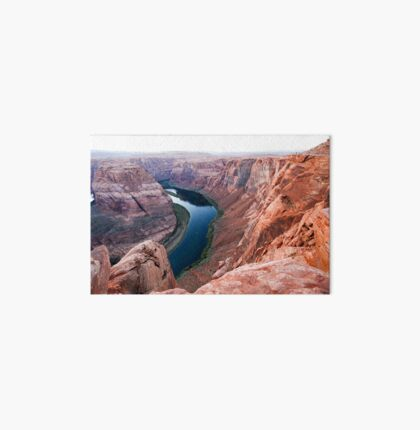 elevated view of Horseshoe Bend Colorado River Arizona USA Art Board