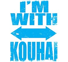 I'm With Kouhai (BLUE) Photographic Print
