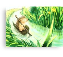 Hedgehog on a journey Canvas Print