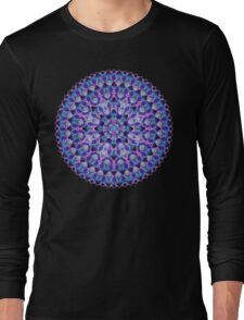 Luminous Crystal Flower Mandala Long Sleeve T-Shirt