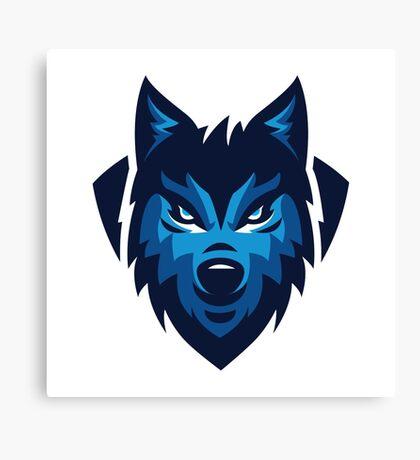 Winter Wolf Head Canvas Print