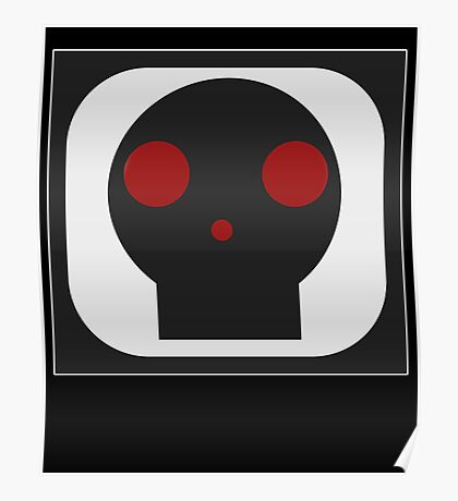 Black Skull square Poster