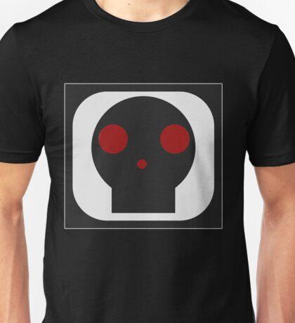 Black Skull square Unisex T-Shirt
