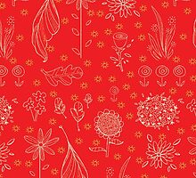 Floral Pattern Red by Cloclo18