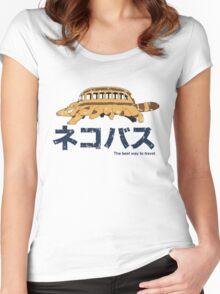 Nekobus retro Women's Fitted Scoop T-Shirt
