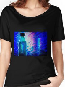 Bottle of water on abstract background Women's Relaxed Fit T-Shirt