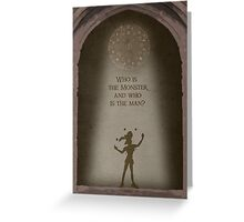The Hunchback of Notre Dame inspired design (Clopin). Greeting Card