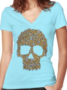 Create Or Die Women's Fitted V-Neck T-Shirt