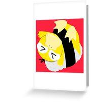OISHI PSYDUCK SUSHI Greeting Card