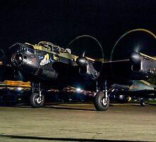 Lancaster NX611 night taxy run 2014 by Colin Smedley