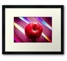 Futuristic red apple Framed Print