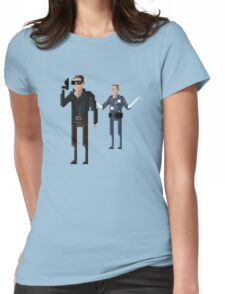 8-Bit TV Terminator Womens Fitted T-Shirt